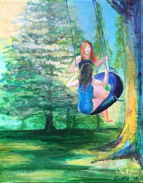 tire swing painting sunlight swing painting by kirstie brown