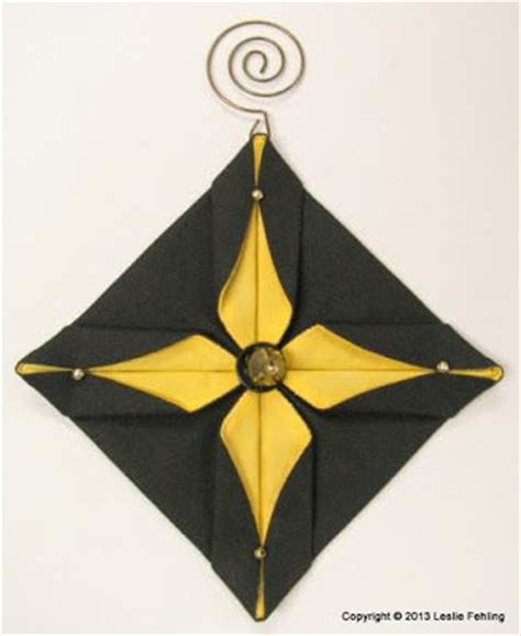 Fabric Origami Ornaments - 25 best ideas about fabric origami on fabric