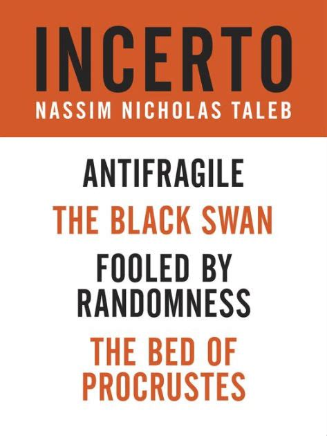 libro the bed of procrustes incerto 4 book bundle fooled by randomness the black swan the bed of procrustes antifragile by
