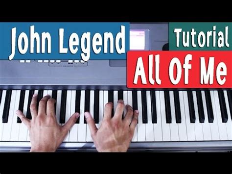 tutorial keyboard all of me all of me john legend piano tutorial espa 241 ol by juan