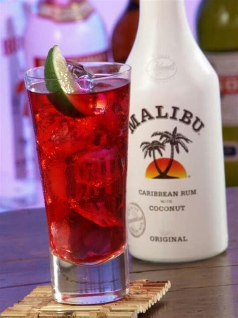 cranberry and malibu rum malibu cranberry juice cool cocktails