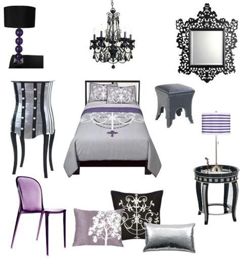 sexy black silver fuschia and purple bedroom