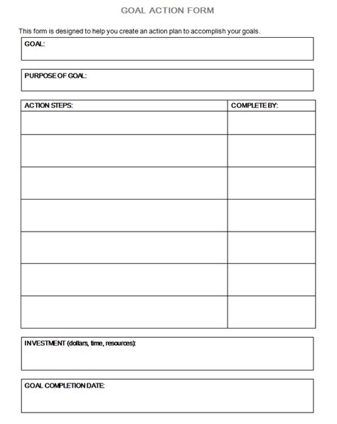 Best Photos Of Personal Goal Setting Template Personal Goal Setting Worksheet Template Free Personal Goal Setting Template