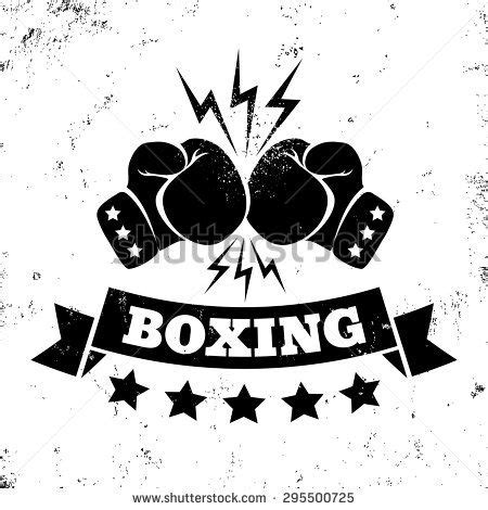 tattoo logo inspiration vintage logo for a boxing on grunge background stock