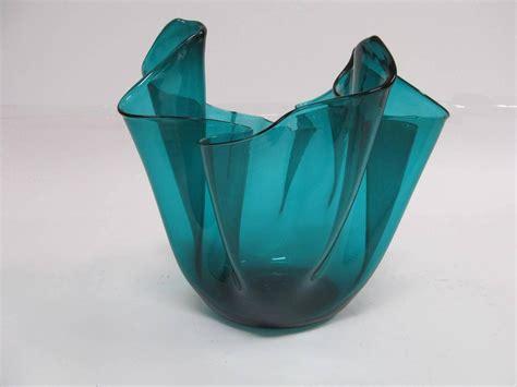 Handkerchief Vase by Signed Large Venini Murano Italia Handkerchief Vase For