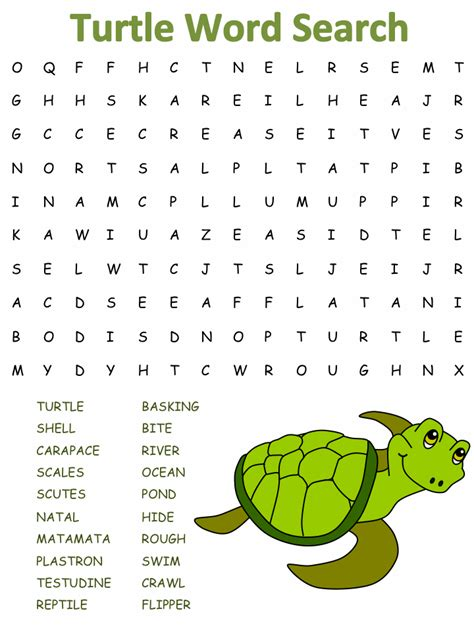 Word Search Turtle Word Searches