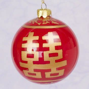 red glass ornament with gold character home d 233 cor