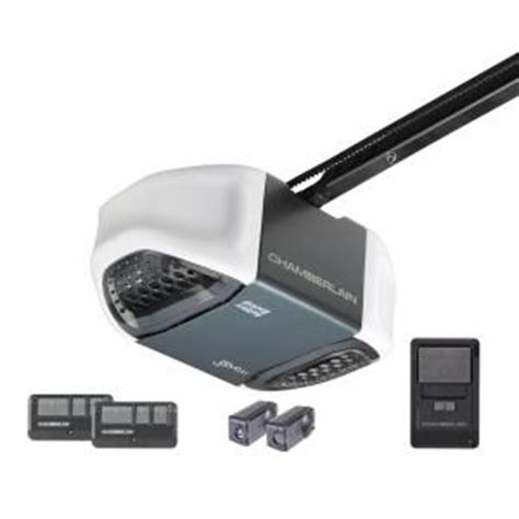 Garage Door Remote Home Depot by Chamberlain 3 4 Hp Belt Whisper Drive Garage Door Opener