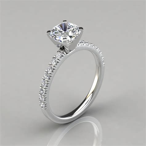 Cut Engagement Rings by Cut Cushion Cut Engagement Ring Puregemsjewels