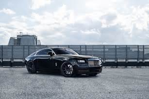 Rolls Royce Wraith On Rims Rolls Royce Wraith Poses On 22 Quot Matte Black Wheels