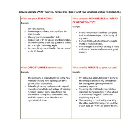 personal marketing plan personal swot analysis id 602667