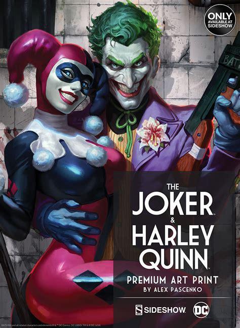 quin mat a alex 8416224544 poster locandine sideshow premium prints the joker harley quinn fumetteria inchiostro