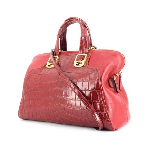 Guess Who The Vintage Fendi Crocodile Tote by Fendi Chameleon Handbag 297375 Collector Square
