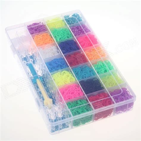 diy rubber st kit diy rainbow rubber band bracelet kit set for kid