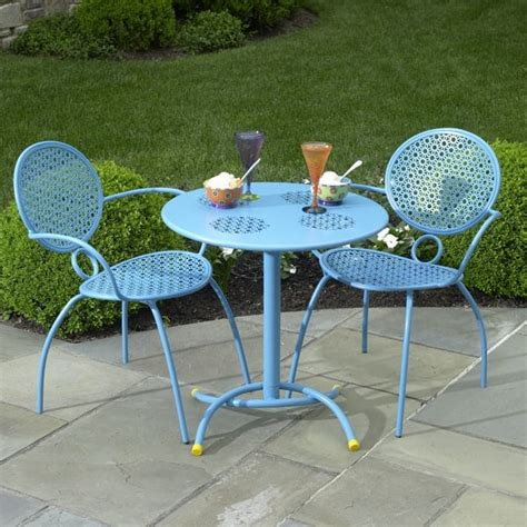patio furniture bistro set the margarita bistro set blue hawaiian by alfresco home