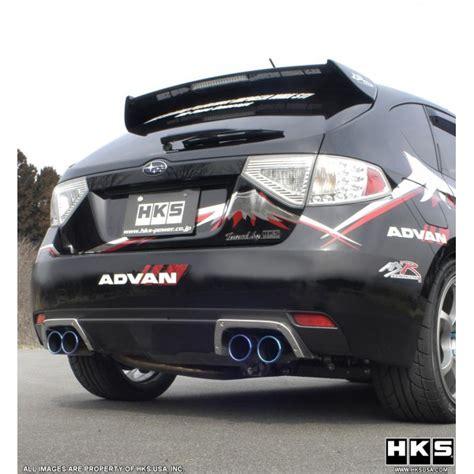 subaru hks exhaust hks legamax premium exhaust system subaru sti 08 14 hatchback
