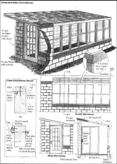 16 Diy Attached Home Greenhouses House Plans With Greenhouse Attached