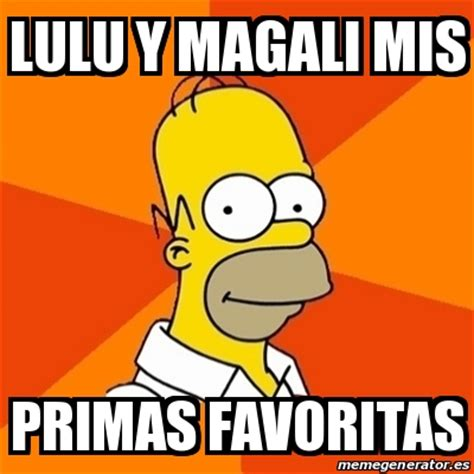 Meme And Lulu - meme homer lulu y magali mis primas favoritas 25039479
