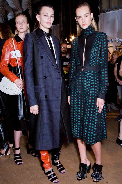 Runway Backstage At Proenza Schouler by Proenza Schouler At New York Fashion Week 2015