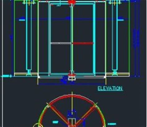 revolving door section folding ladder cad files dwg files plans and details