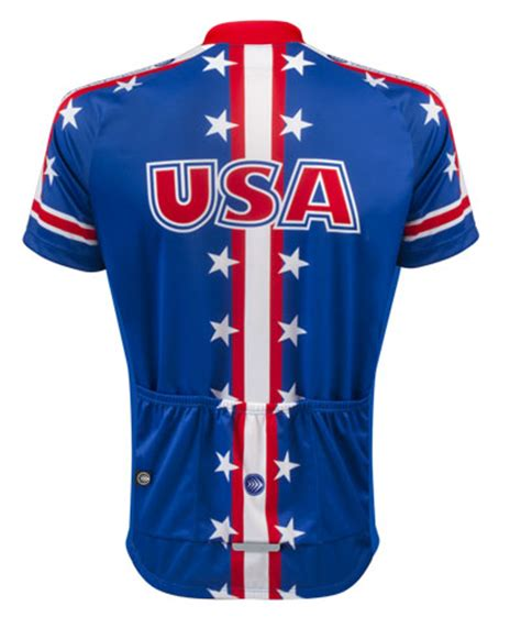 jersey design usa usa cycling jersey in red white and blue with back pockets