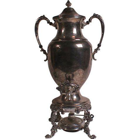 Sheridan Silver Plate Samovar Urn Coffee Pot Hot Water Pot Ornate SOLD on Ruby Lane