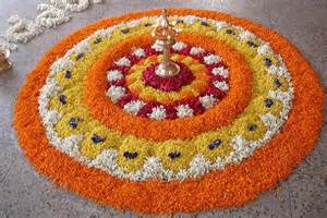 Rangoli Using Flowers - mesmerising rangoli designs and patterns for home and