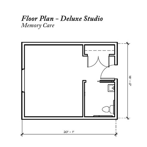 floor plan for elder care cottages memory care units homey memory care apartment floor plan lenity senior living