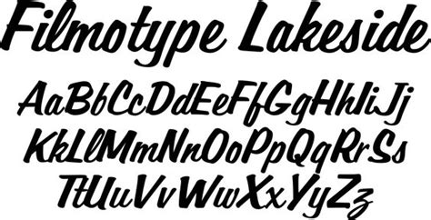 typography 1950s filmotype lakeside font originally offered by filmotype
