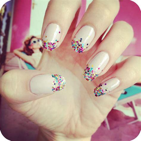easy nail art glitter simple glitter fade nail art diy burkatron