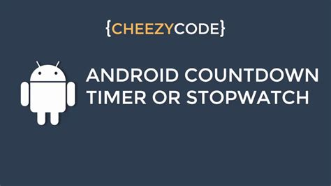 tutorial android handler android countdown timer tutorial android handler timer