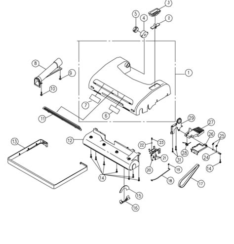 miele vacuum parts diagram riccar 8925 parts vacuum repair diagrams