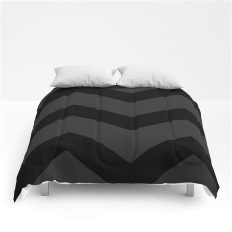 large chevron comforter black and gray bed cover bedding
