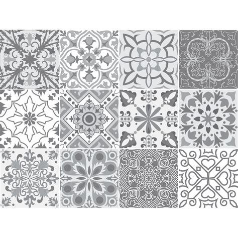sol vinyle imitation carrelage 851 carreaux de ciment gris papier peint carreaux vinyle sur