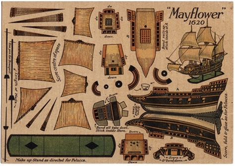 How To Make A 3d Ship Out Of Paper - post card paper cut out mayflower ship ebay paper