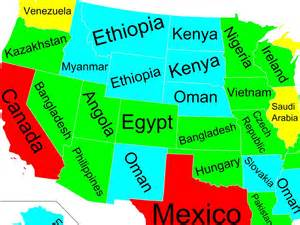 map of of us states and other countries business insider