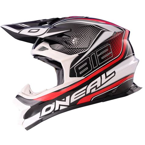 light motocross helmet oneal 812 graphic mx lightweight fiberglass 8 series