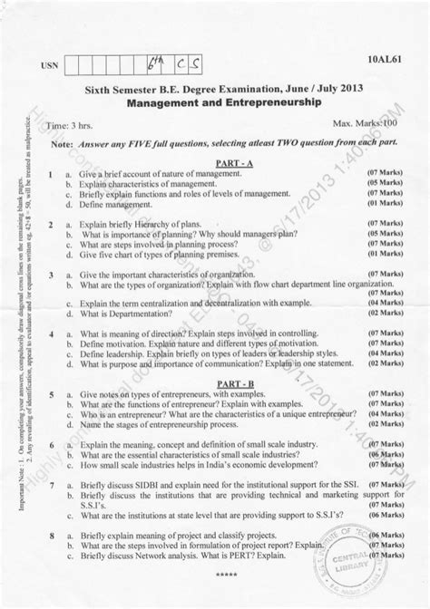 pattern recognition vtu question papers 6th semester cs is 2013 june question papers
