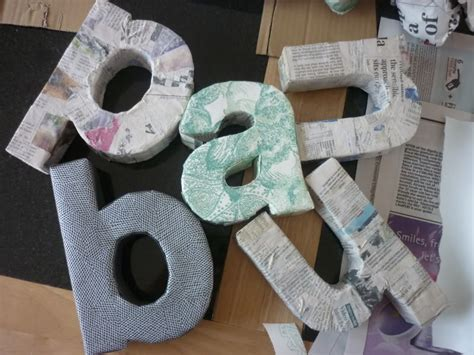 How To Make Paper Mache - 24 diy paper mache letters guide patterns