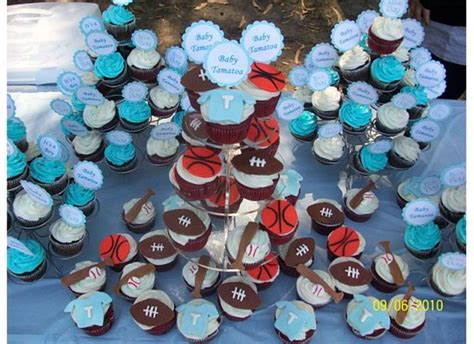 Baby Shower Theme Cupcakes by Sports Theme Baby Shower Cupcakes Cakecentral