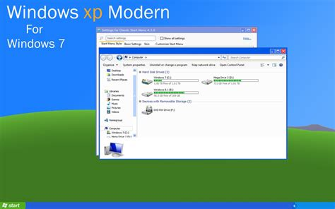 themes for windows 7 design windows xp modern style theme for windows 7 by