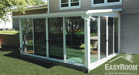 diy patio enclosure sunroom diy kit ideas designs pictures great day