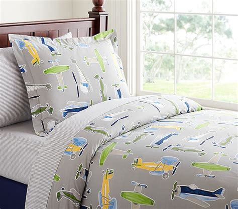Airplane Bedding Sets Airplane Duvet Cover Pottery Barn