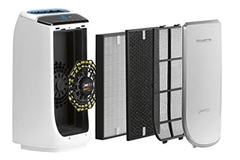 Rowenta PU4020 Intense Pure Air 400 Square Feet Air Purifier with Pollution Sensors and 4