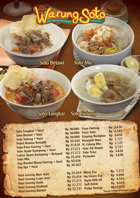 contoh desain daftar menu unik warung soto menuacrylic a33opt 2