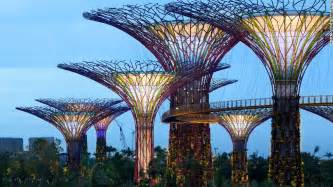 solar lights singapore solar powered supertrees at singapore s gardens by the