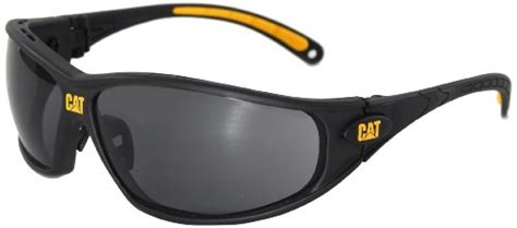 caterpillar tread safety glasses black and yellow clear