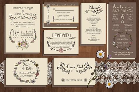 free wedding invitation suite templates wildflower wedding invitation suite invitation templates