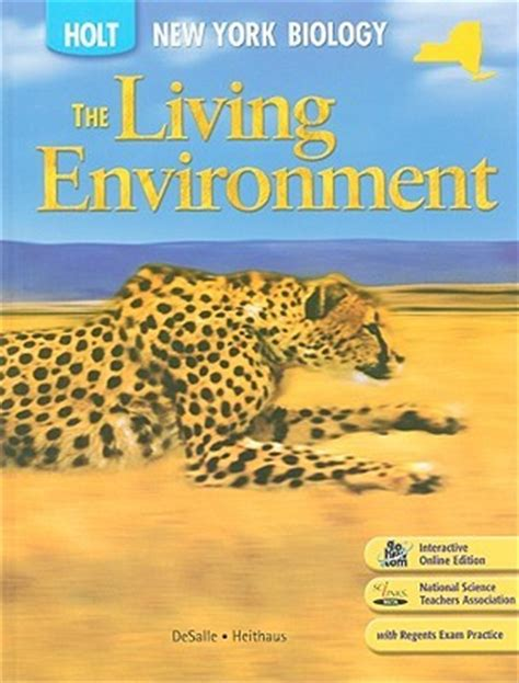 environment books the living environment holt biology new york edition by