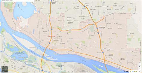 vancouver usa map vancouver washington map